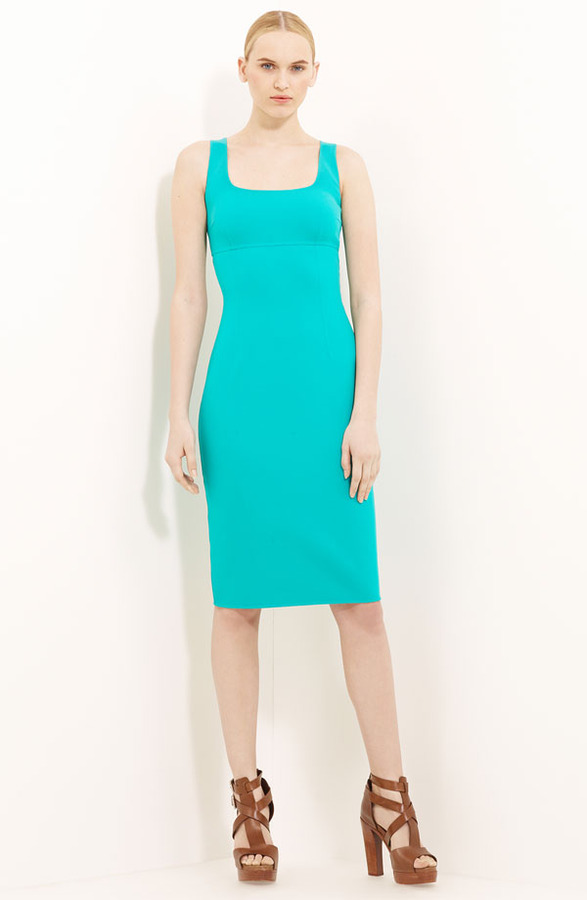 Michael Kors Wool Crepe Sheath Dress