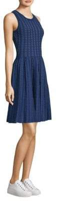 Milly Pleated Dot Flare Dress