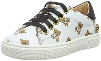 Moschino Girls' FAL001201050002 Low-Top White Size: 10.5 Child UK
