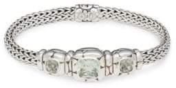 John Hardy Kali Green Amethyst and Silver Bracelet