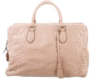 Rochas Textured Leather Satchel