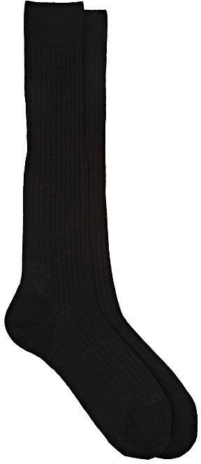 Barneys New York Men's Rib-Knit Over-The-Calf Socks