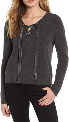 Rails Amelia Lace-Up Wool & Cashmere Blend Sweater