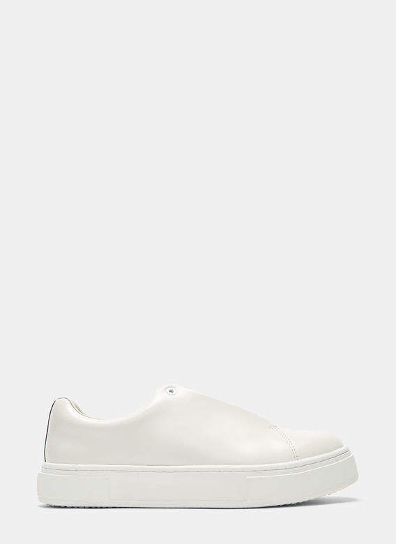 Eytys Unisex DOJA Leather Sneakers in White