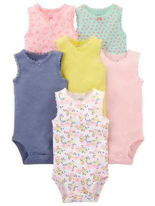 Carter's Simple Joys By Simple Joys by Baby Girls' 6-Pack Sleeveless Bodysuit