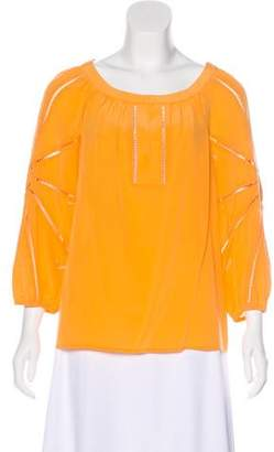 Trina Turk Long Sleeve Silk Top w/ Tags