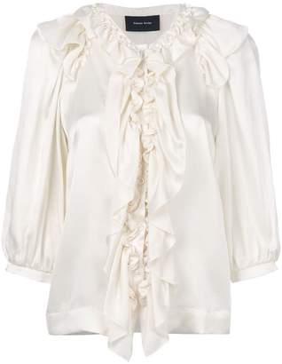Simone Rocha ruffle button blouse