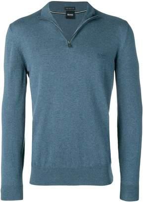 HUGO BOSS zipped collar sweater