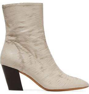 IRO Metallic Sliced Leather Ankle Boots