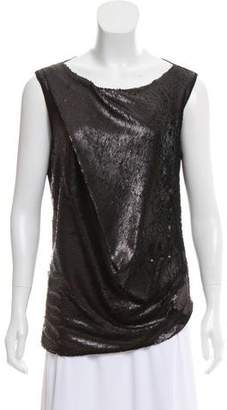 Plein Sud Jeans Draped Sequin Top w/ Tags