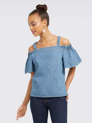 Draper James Chambray off the Shoulder Tank