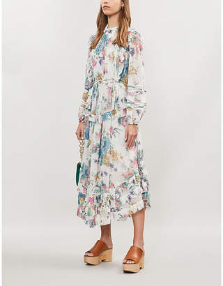 Zimmermann Ninety-Six Linear silk-chiffon maxi dress