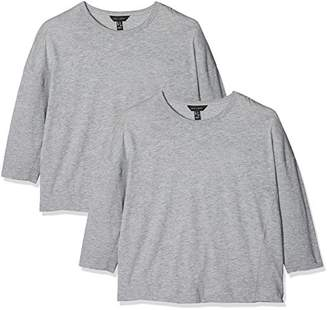New Look Women's 55332 Twin-Set, (Grey Marl), (Pack of 2)