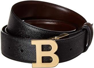 Bally B Buckle Adjustable & Reversible Leather Belt