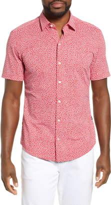BOSS Robb Sharp Fit Floral Print Shirt