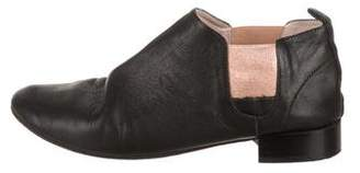Repetto Leather Round-Toe Booties