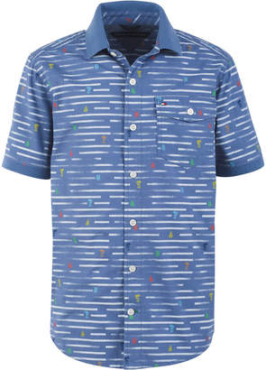 Tommy Hilfiger Toddler Boys Nathan Broken Stripe Poplin Shirt