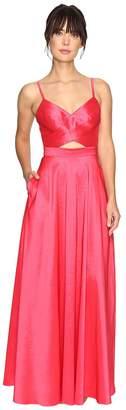 Laundry by Shelli Segal Taffeta Gown w/ Open Back Women's Dress