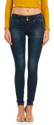 "Cover Girl YDX Jeans Jeans Women Juniors Mid Rise Slim Fit Stretchy Skinny Jeans 4 Options Plus Size 1 DARK (31"" Inseam)"