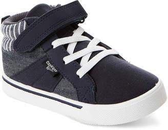 Osh Kosh B'gosh (Toddler Boys) Navy Merle Zip High-Top Sneakers