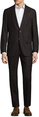 Isaia Men's Welted Stripes Suit