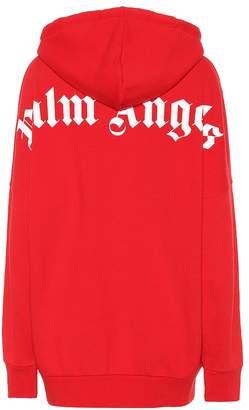 Palm Angels Logo cotton-jersey hoodie