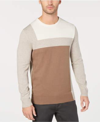 Alfani Men Lightweight Colorblocked Knit Sweater, Regular Fit