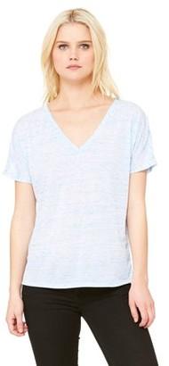 Clementine Apparel Women's Clementine Flowy Simple V-Neck T-Shirt