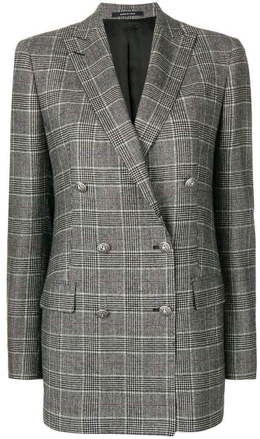 checked oversized blazer