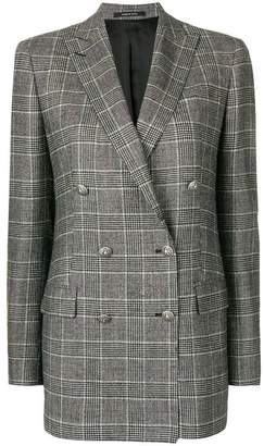 Tagliatore checked oversized blazer