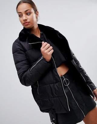 Missguided aviator padded coat