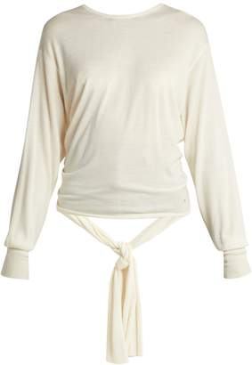 Esteban Cortazar Split-back wool and silk-blend sweater