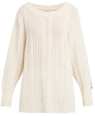 b30bfd9fceb5 Queene and Belle Oversized Boat Neck Cable Knit Cashmere Sweater - Womens -  Cream
