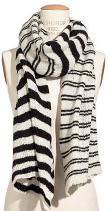 Long striped scarf