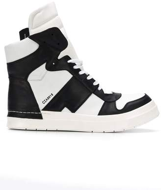Cinzia Araia panelled hi-top sneakers