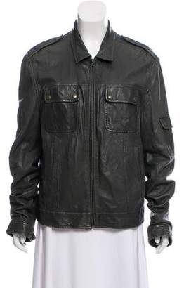 Rag & Bone Pointed Collar Zip-Up Jacket