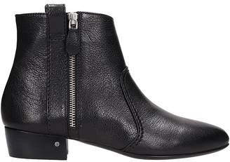 Laurence Dacade Black Leather Ankle Boot In Black Leather