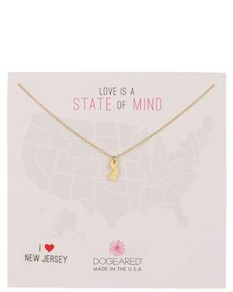 Dogeared State of Mind New Jersey Pendant Necklace