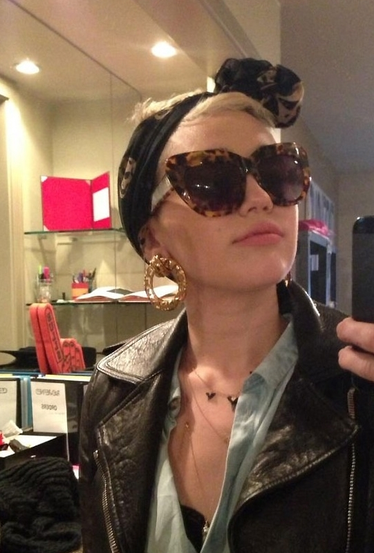 House Of Harlow Chelsea Sunglasses in Tortoise as Seen On Miley Cyrus