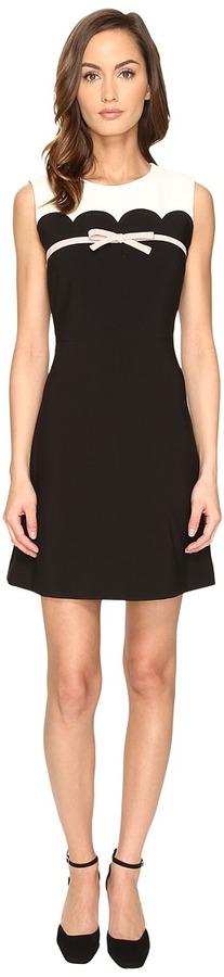 Kate SpadeKate Spade New York - Scallop Bow A-Line Dress Women's Dress