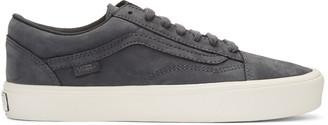Vans Grey Nubuck Old Skool Lite LX Sneakers $120 thestylecure.com