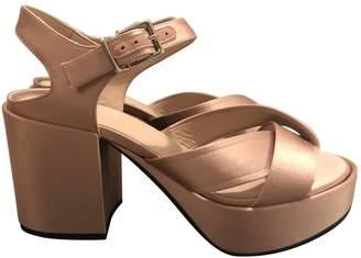Jil Sander Pink Polyester Sandals