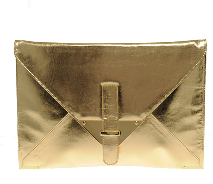 ASOS Metallic Portfolio Clutch