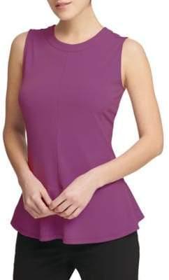 Donna Karan Peplum Knit Top