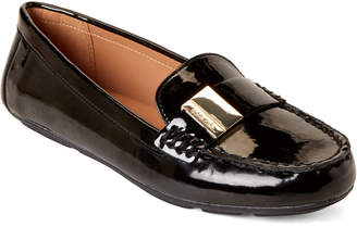 Calvin Klein Black Lisa Patent Driving Loafers