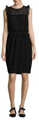 Laundry by Shelli Segal Floral Lace Embroidered Dress