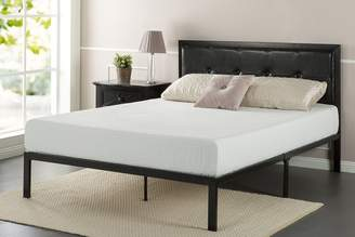Zinus Faux Leather Classic Platform Bed Frame with Steel Support Slats