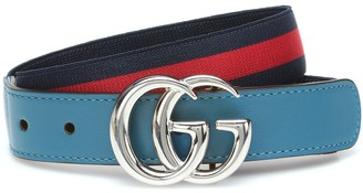 Gucci Kids GG striped stretch belt