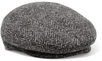 Isabel Marant Gabor Herringbone Wool-tweed Cap - Gray