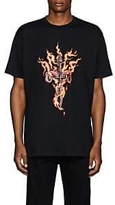 "Givenchy Men's ""Flame"" Cotton T-Shirt - Black"